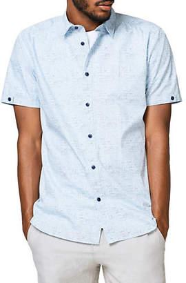 Esprit Sketch Woven Button-Down Shirt
