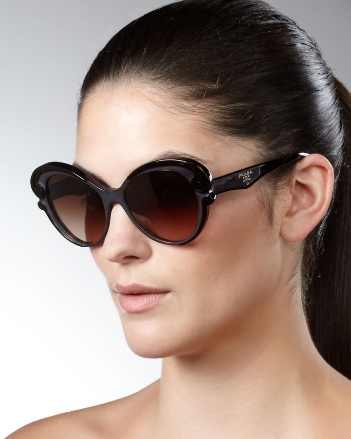 Prada Cat-Eye Sunglasses, Brown