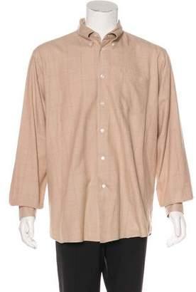 Hermes Windowpane Button-Up Shirt