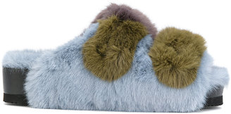 Suecomma Bonnie platform faux fur sandals