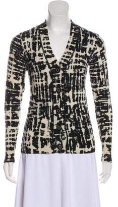 Tory Burch Wool Fitted Cardigan