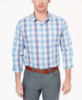 Alfani Men's Slim-Fit Stretch Large Gingham Dress Shirt, Created for Macy's