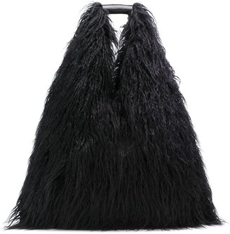 MM6 MAISON MARGIELA faux-fur shoulder bag