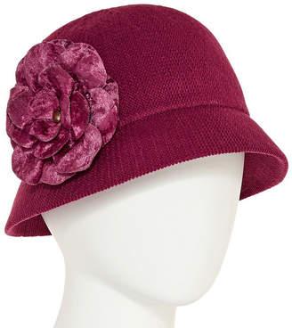 Cloche August Hat Co. Inc. Velvet Flower Hat