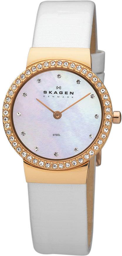 Skagen Crystal Bezel Watch