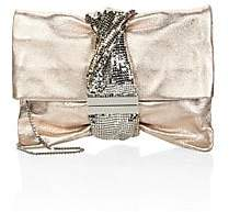 Jimmy Choo Women's Chandra Metallic Ballet Clutch