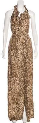 Rachel Zoe Silk Halter Dress