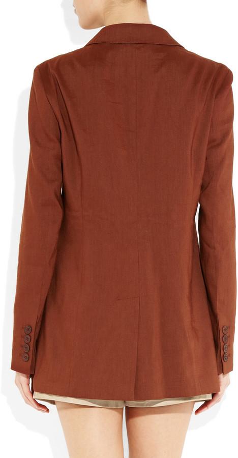 Burberry Oversized wool and linen-blend blazer