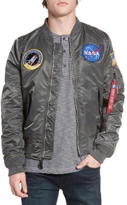 Men's Alpha Industries Lightweight Nasa L-2B Bomber Jacket $160 thestylecure.com