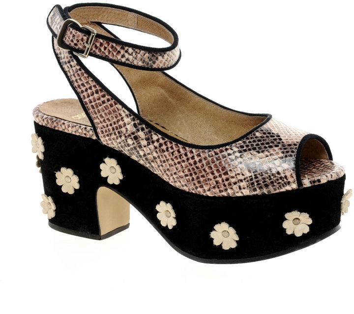 ASOS HIDE AND SEEK Leather Platform Sandals