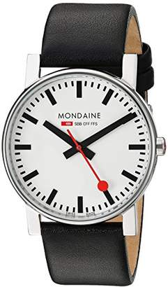Mondaine Men's A660.30344.11SBB Evo Gents 38 Leather Band Watch