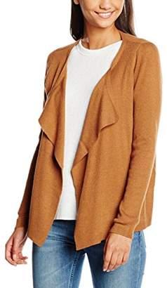 Vero Moda Women's VMNONGFU LS DRAPEY CARDIGAN A Cardigan, Orange (Adobe), (Manufacturer size: Large)