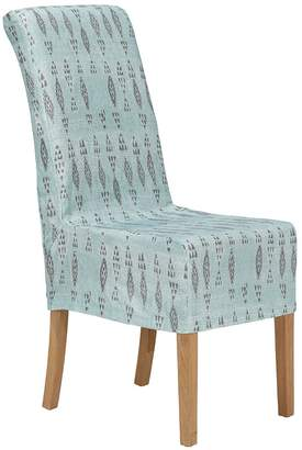 OKA Amezrou Slip Cover For Echo Dining Chair - Pale Blue