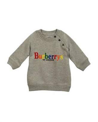 Burberry Mala Rainbow Logo Embroidery Sweatshirt, Size 6M-3