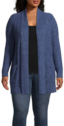 ST. JOHN'S BAY Shawl Neck Cardigan - Plus