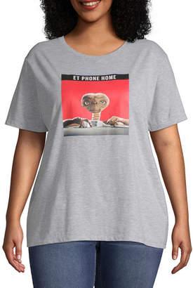 Universal Round Neck Short Sleeve Graphic T-Shirt Juniors Plus