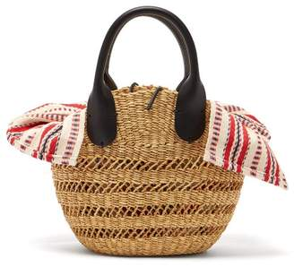 Muun Tina Woven Straw Basket Bag - Womens - Red Multi