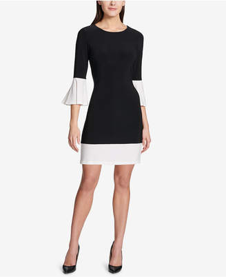 Tommy Hilfiger Colorblocked Bell-Sleeve Dress
