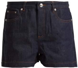 A.P.C. High-rise rigid denim shorts