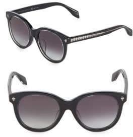 Alexander McQueen 50MM Round Sunglasses