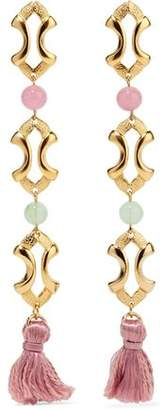 Ben-Amun Gold-Plated Bead And Tassel Earrings