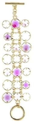 Oscar de la Renta Framed Glass Crystal Bracelet