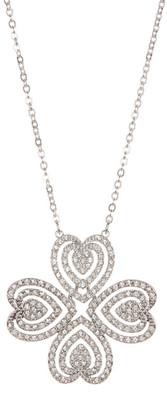 Swarovski Carol Crystal Heart Clover Pendant Necklace $119 thestylecure.com