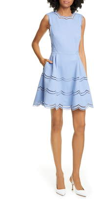 Ted Baker Scalloped Fit & Flare Dress