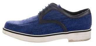 Nicholas Kirkwood Woven Derby Shoes