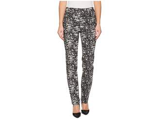 Tribal Pull-On 30 Printed Twill Five-Pocket Pants Women's Casual Pants