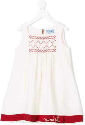 Mi Mi Sol embroidered smock sleeveless top