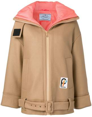 Prada hooded zipped jacket