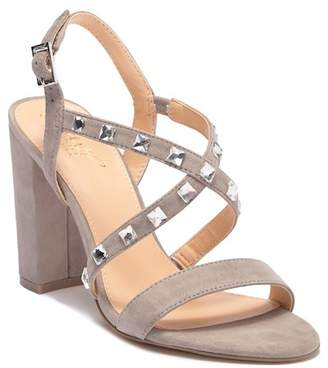 Badgley Mischka Miriam Studded Crisscross Sandal
