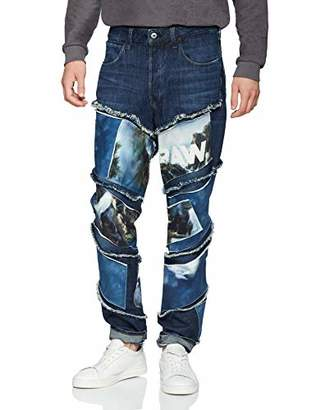 G Star Men's Jaden Smith Spiraq RFTP Patches Water 3D Slim Jeans,W32/L32