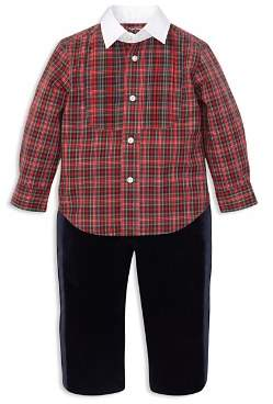 Ralph Lauren Boys' Poplin Shirt & Tuxedo Pant Set - Baby