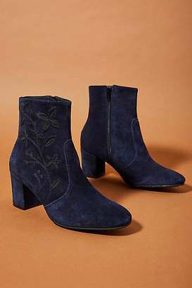 Anthropologie Floral Embroidered Booties