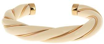 Twisted-effect gold-plated cuff