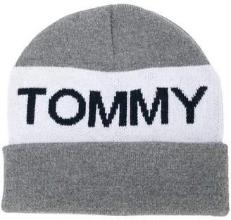 Tommy Hilfiger Junior logo knit beanie
