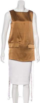 Thomas Wylde Silk Asymmetrical Top