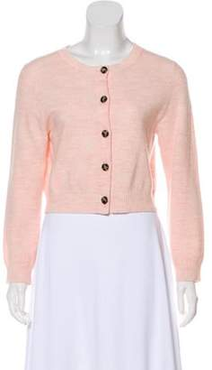 Acne Studios Malia Boiled Wool Cardigan Pink Malia Boiled Wool Cardigan
