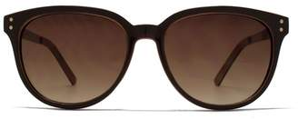 6d1b50b9e5ec French Connection Ladies Sunglass Small Round Glamour DK Brown W/LT Brown  Interior 26French ConnectionU596