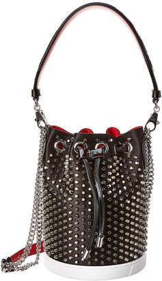 Christian Louboutin Marie Jane Studded Satin Bucket Bag