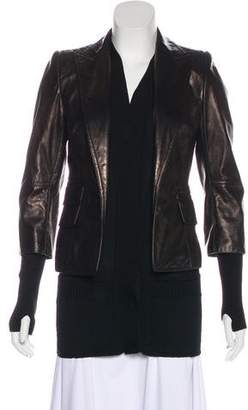 Kaufman Franco KAUFMANFRANCO Layered leather Coat