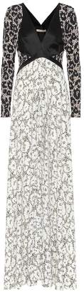 Roberto Cavalli Printed long-sleeved maxi dress