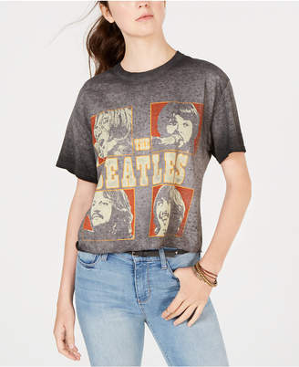 True Vintage Cropped Cotton Beatles-Graphic T-Shirt