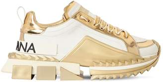 Dolce & Gabbana 40mm Super Queen Leather Sneakers