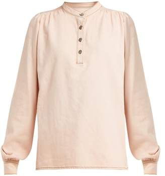 Ganni Trinity Denim Shirt - Womens - Light Pink