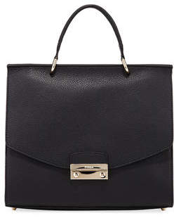Furla Julia Medium Leather Top Handle Bag - Golden Hardware