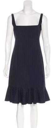 Ralph Lauren Wool Pinstriped Dress
