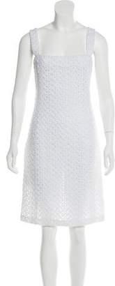 Celine Eyelet Knee-Length Dress